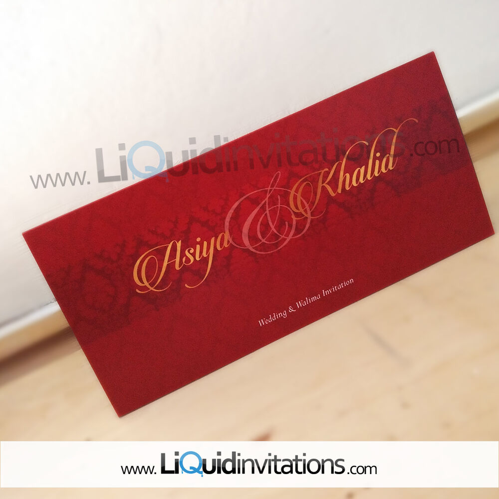 Gold red Shaadi Mubarak wedding Card SAMPLE | eBay