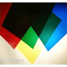 Lighting GELS - Video Film Lights Fresnel dvr Movies RED BLUE GREEN & YELLOW