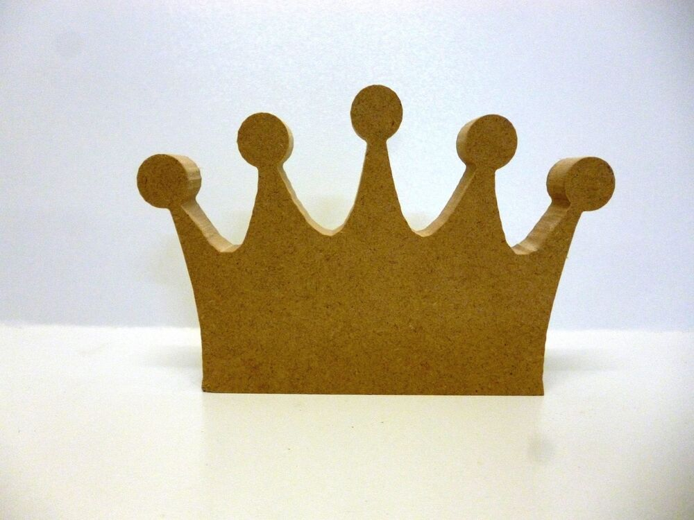 wooden craft shapes wooden freestanding mdf princess crown shape craft blank 3257