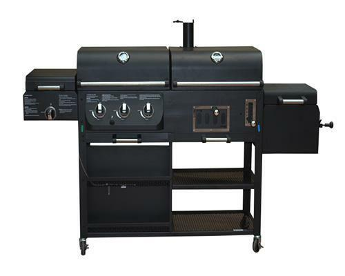 gas holzkohle grill grillwagen holzkohlegrill bbq smoker. Black Bedroom Furniture Sets. Home Design Ideas