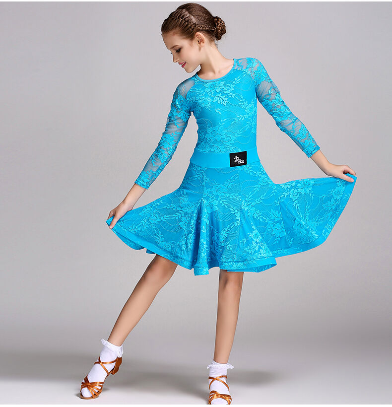 2017 Childrens Latin Salsa Ballroom Dance Dress Girls ...