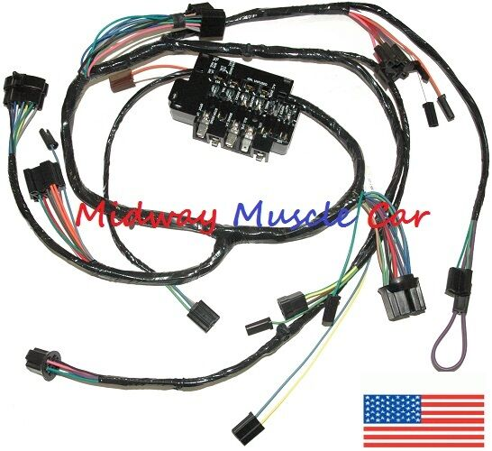 Under Dash Wiring Harness  U0026 Fuseblock Chevy Pickup Truck Suburban 63 64 65 66