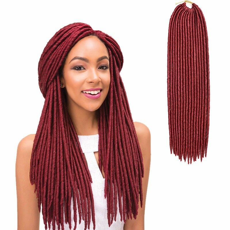 18 Straight Faux Locs Color Bug Havana Mambo Weaving Bonding Hair