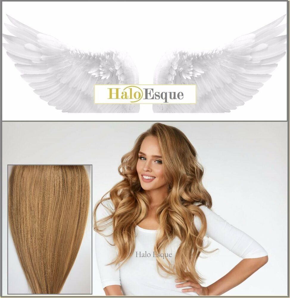 Halo Esque Secret Wire Remy Hair Extensions 200g Beige Blonde High ...