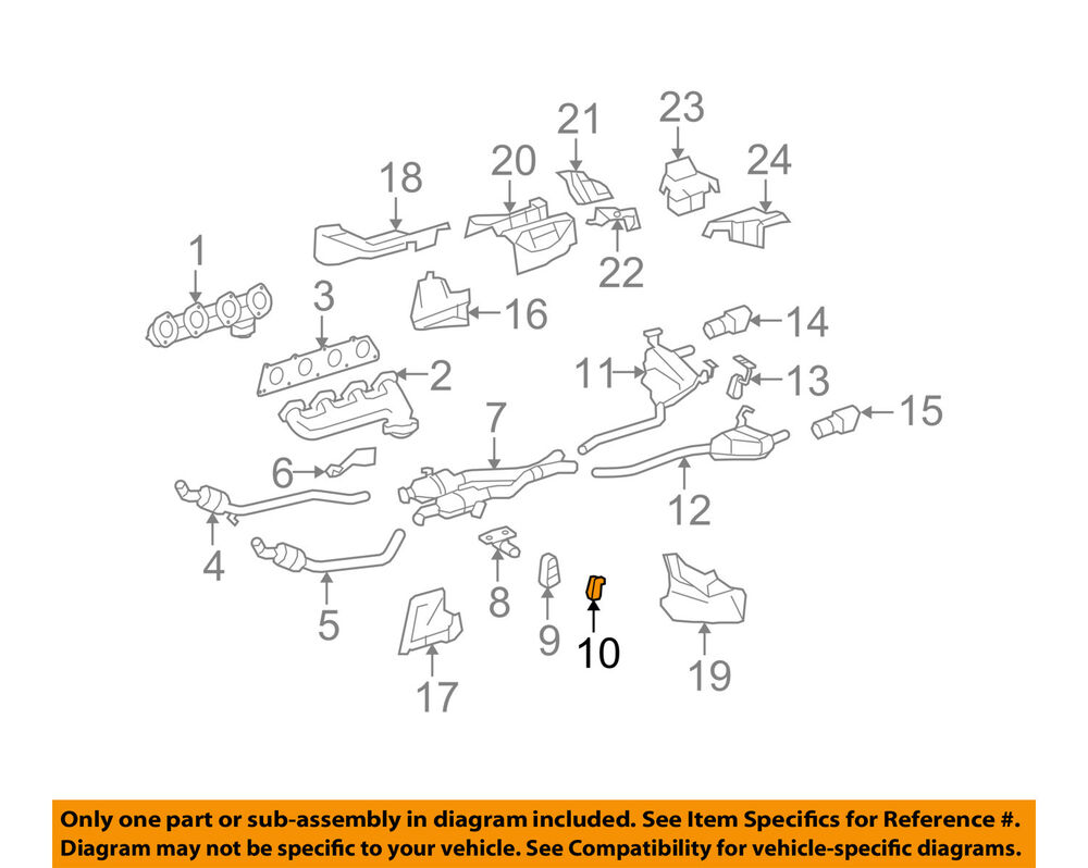 2006 Mercedes Ml350 Engine Diagram Wiring Library Oem 06 11 35l V6 Exhaust Bracket Insulator 1644920944