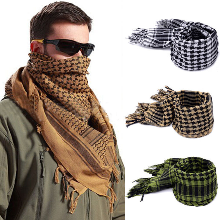 Mens Women Army Military Tactical Arab Shemagh Keffiyeh -3010