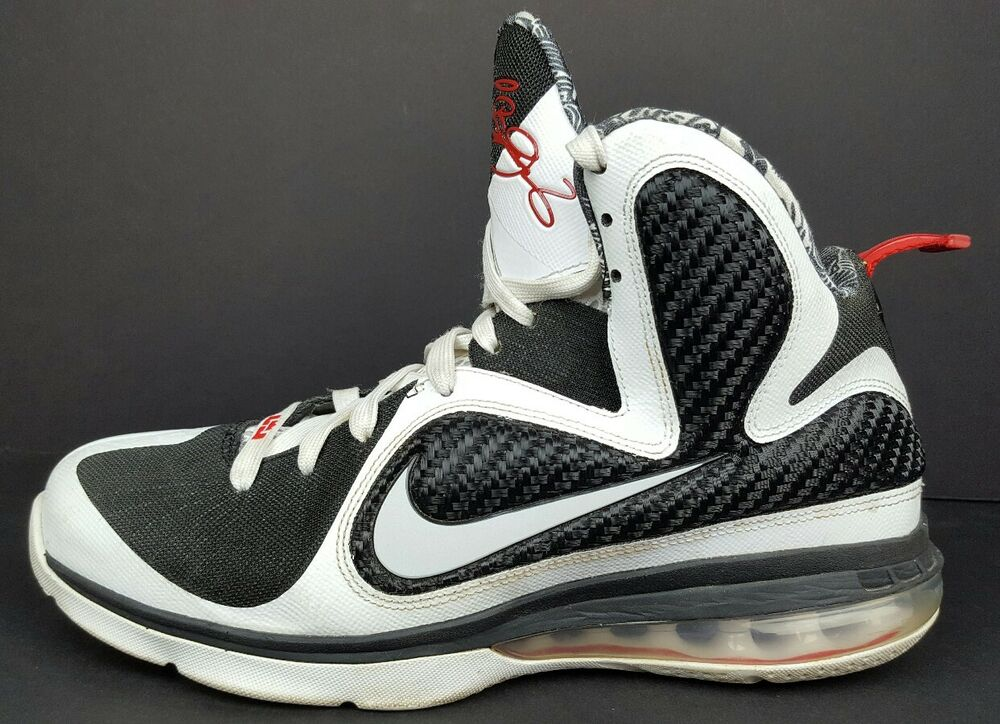 promo code b0c59 9d7a8 Details about Nike Lebron 9 IX Mens Size 8.5 Freegums Black White Athletic  Sneakers 469764-101