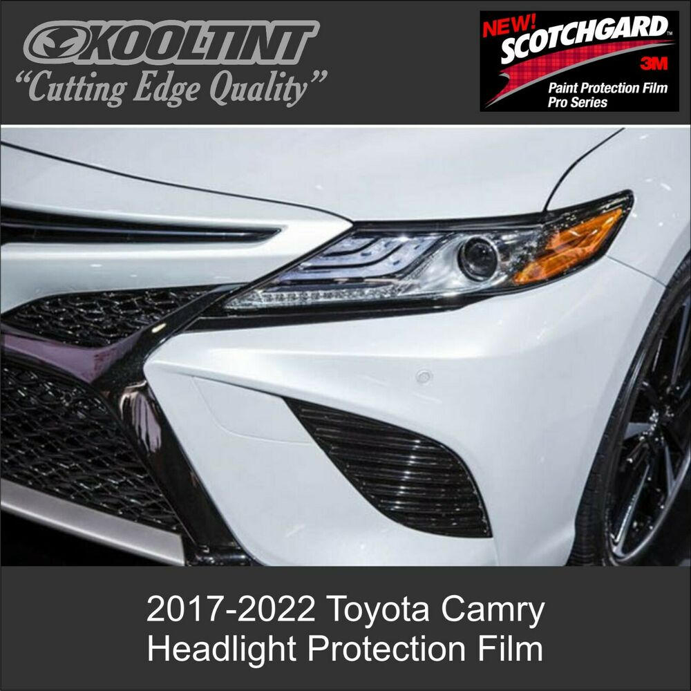 Details About Headlight Protection Film By 3m For 2017 2019 Toyota Camry Sedan