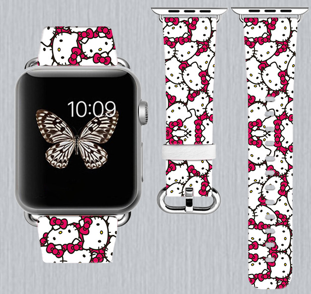Hello Kitty Apple Watch Band 38 Mm 42 Iwatch Wristband
