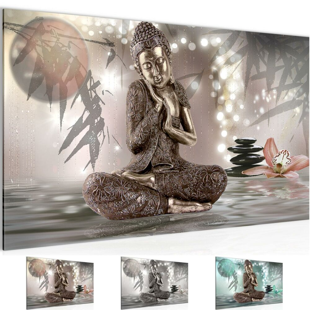 wandbilder xxl bilder buddha feng shui vlies leinwand bild kunstdruck 503414p ebay. Black Bedroom Furniture Sets. Home Design Ideas