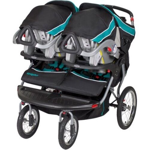 Luxurious Double Baby Stroller Twins Jogger Push Child