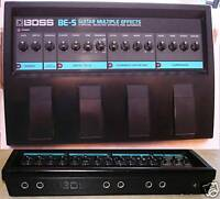BOSS BE-5 GUITAR OR BASS MULTI EFFECTS PEDAL & POWER SUPPLY