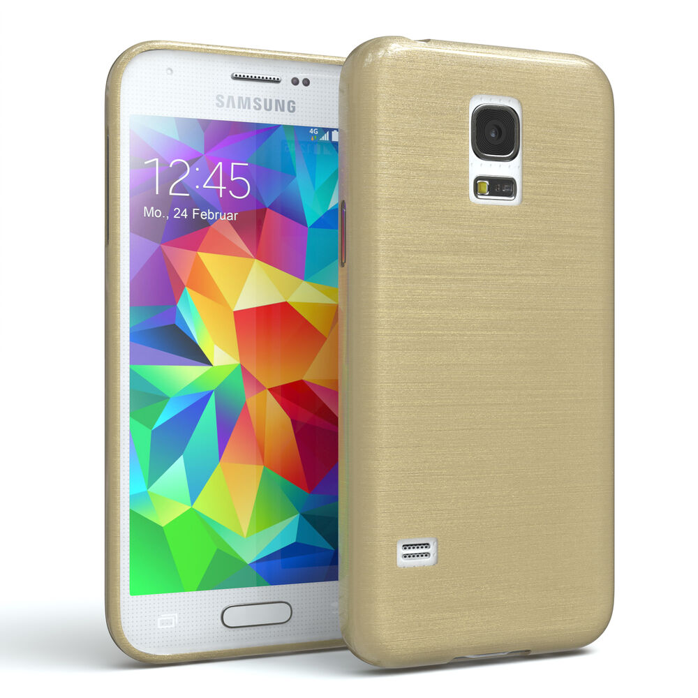 schutz h lle f r samsung galaxy s5 mini brushed cover. Black Bedroom Furniture Sets. Home Design Ideas