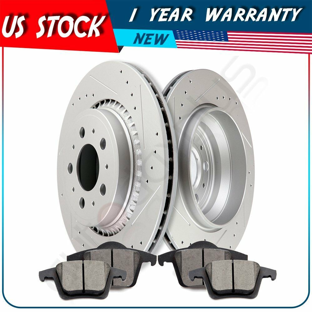Volvo S60 Brake Pads: Rear Drilled + Slotted Brake Rotors And Ceramic Pads For