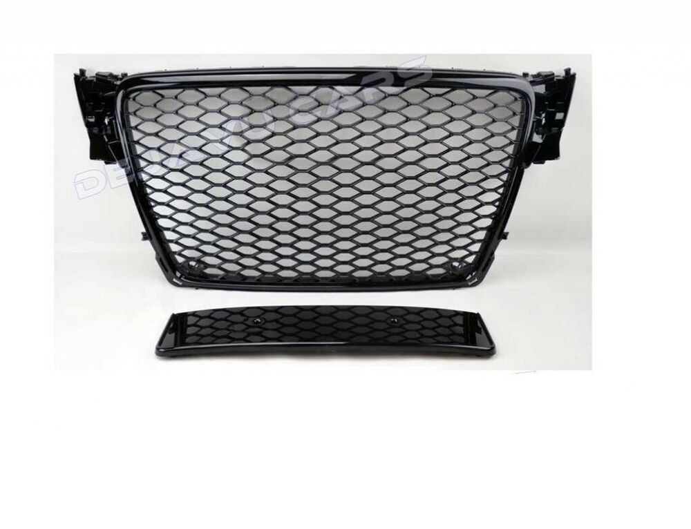rs4 front grill mesh honeycomb grille audi a4 b8 8k s4. Black Bedroom Furniture Sets. Home Design Ideas