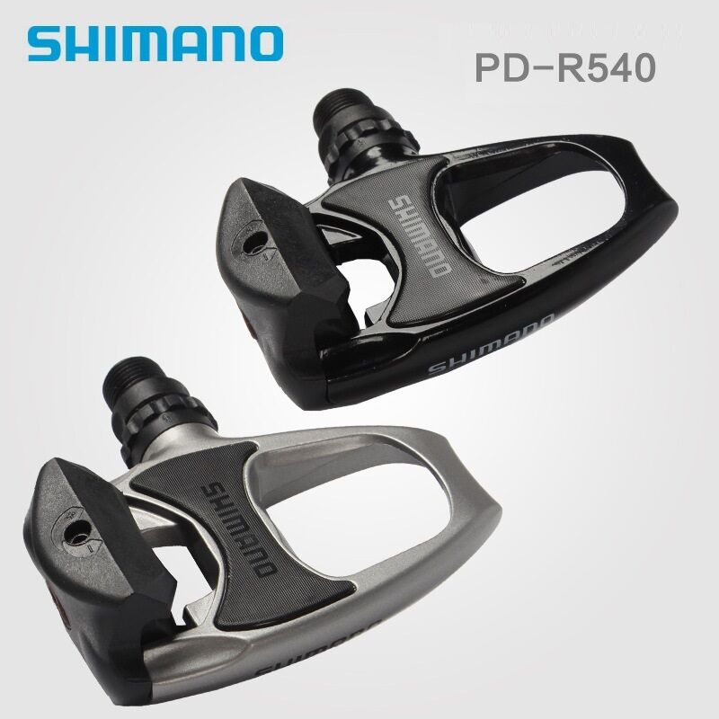 57414947df0 Details about Road Bike Shimano PD R540 SPD SL Clipless Road Pedals + Float  Cleats