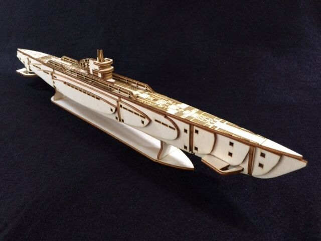 Laser Cut Wooden WW2 U Boat Submarine 3D Model/Puzzle Kit ...