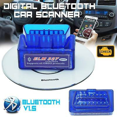 Super Mini Bluetooth OBD2 Android Torque OBDII ELM327 v1.5 Adapter Auto Scanner