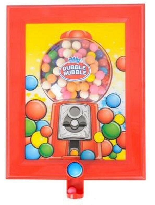 Dubble Bubble 3d Wall Hanging Funtioning Gumball Machine Dispenser