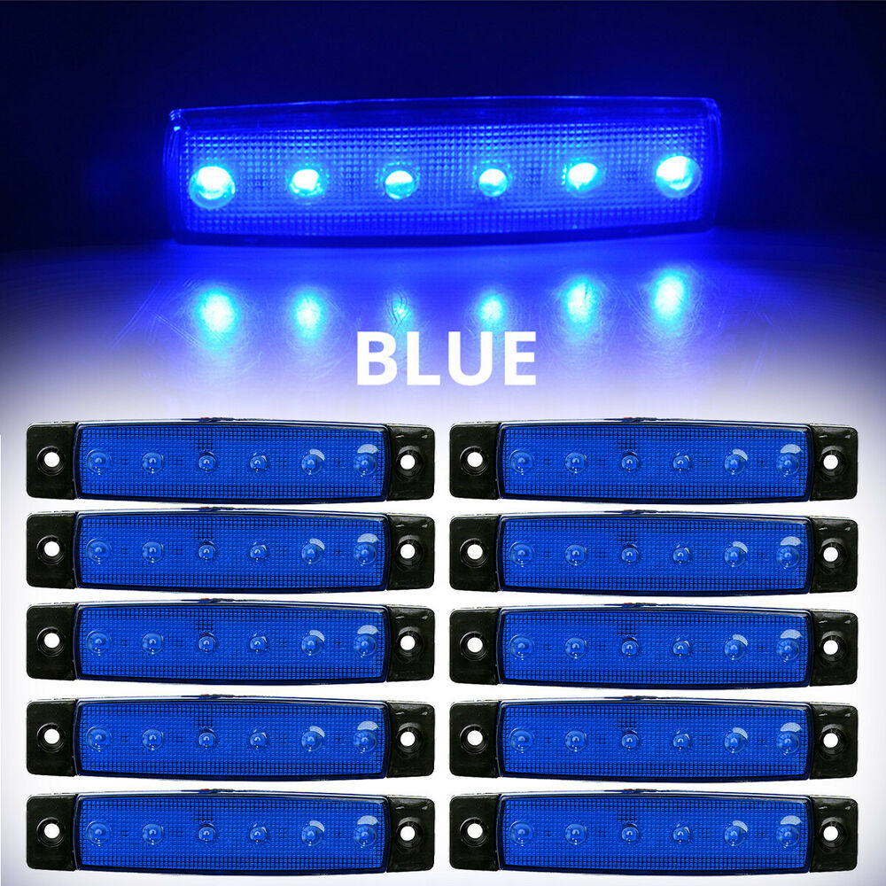 Led Marker Light 12v Wiring Dc Wire Data Schema Diagram For Truck 10x Blue 24v 3 8 Side Indicators Trailer Rh Ebay Com Switch On Off