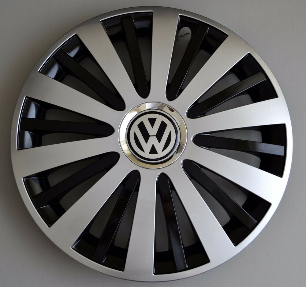 "14"" Vw Polo,Golf,Fox,Lupo,etc... Wheel Trims / Covers, Hub Caps, black&silver 