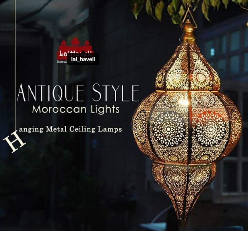 Moroccan Lamps Oriental Pendant Arabian Metal Ceiling Light Hanging Lantern Lamp