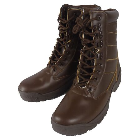 img-All Leather Patrol Boots - Cadets, Security, Workwear Size 4-11