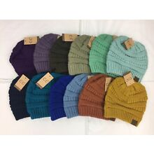 Womens Knit Slouchy Beanie CC Hat Unisex Slouch -- TONS of Colors