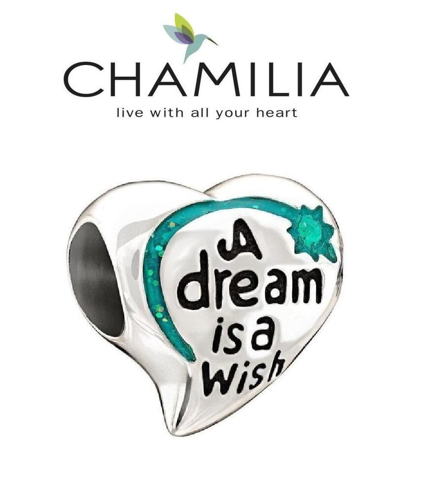Chamilia Sterling Disney A Dream Is A Wish Your Heart Makes Bead New 2020-0693 Charms & Charm Bracelets