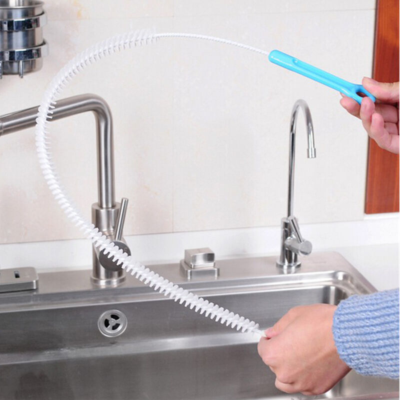 Kitchen Cleaner Brush: 71cm Flexible Sink Overflow Drain Unblocker Clean Brush