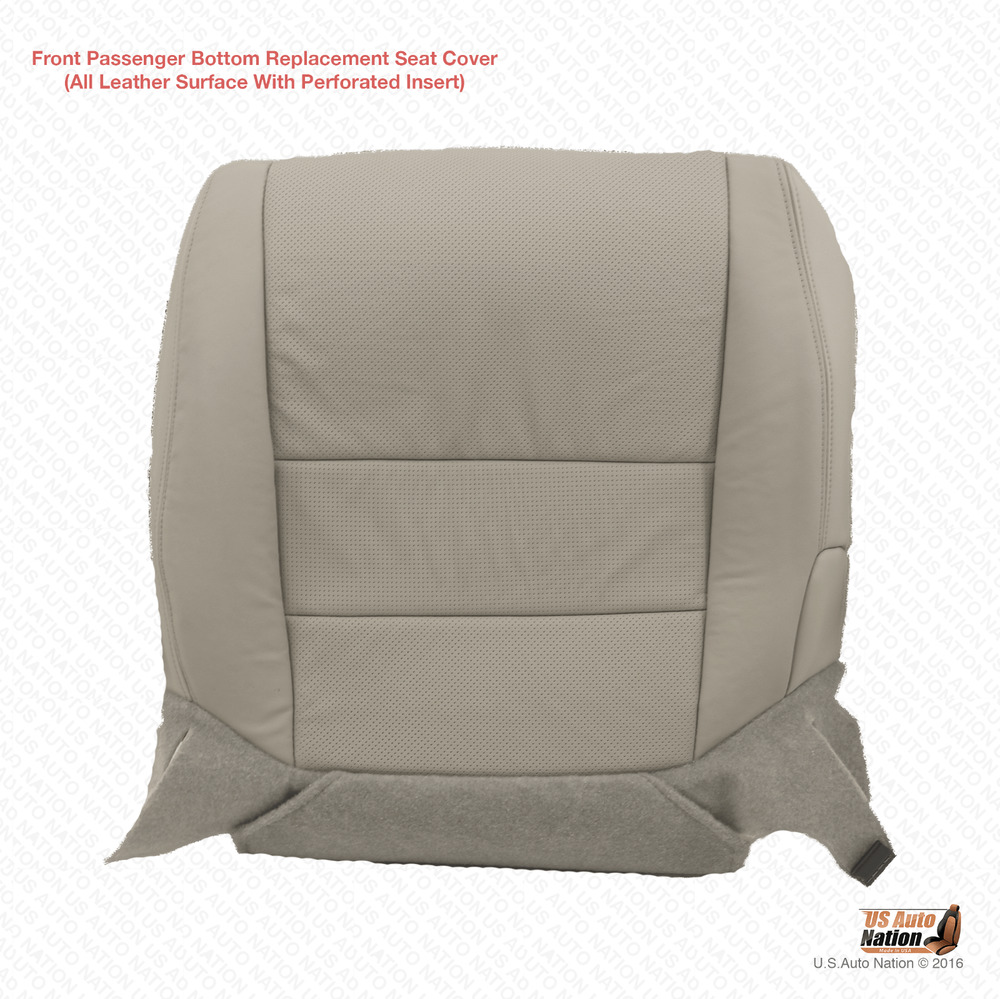 Acura Tl 08 Type S: Passenger Bottom Replacement Perforated Leather Cover Gray