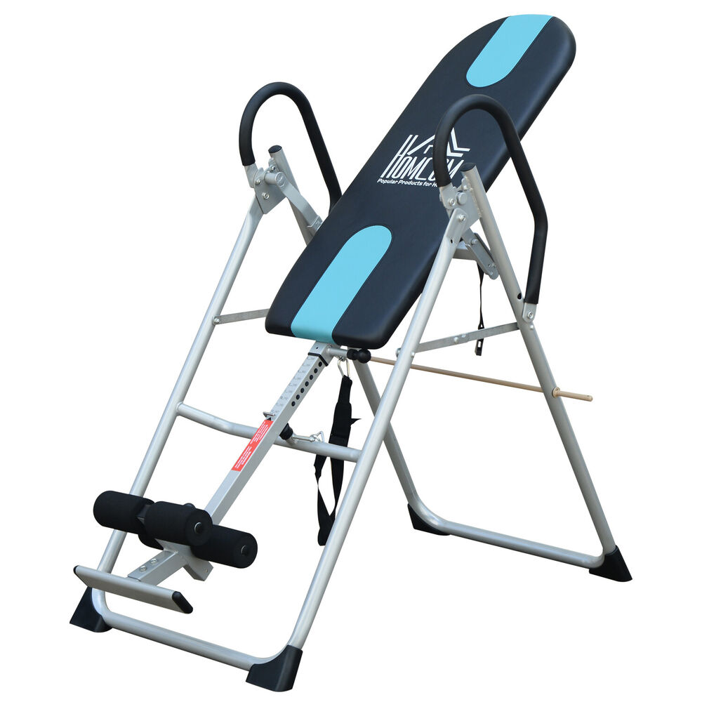 HOMCOM Foldable Therapy Gravity Inversion Table AB