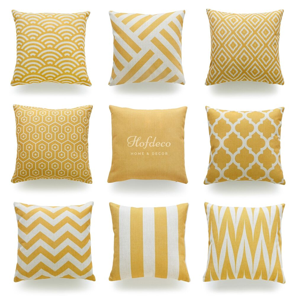 Hofdeco Throw Pillow Case Mustard Yellow Heavy Weight