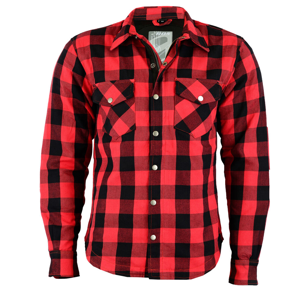 chemise moto lumberjack de b o s en kevlar rouge carreaux taille m 5xl ebay. Black Bedroom Furniture Sets. Home Design Ideas