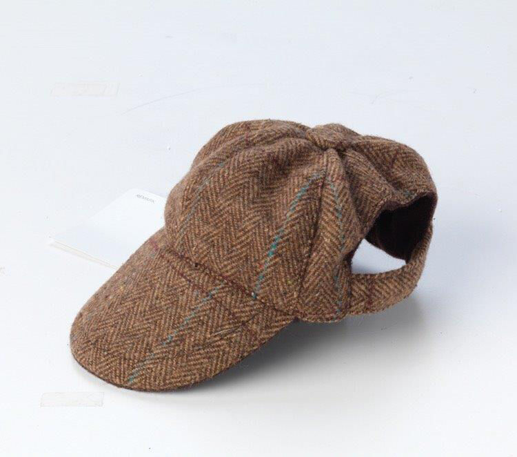 Brown Tweed Dog Hat   Cap for Small Medium dogs c68c64e5867