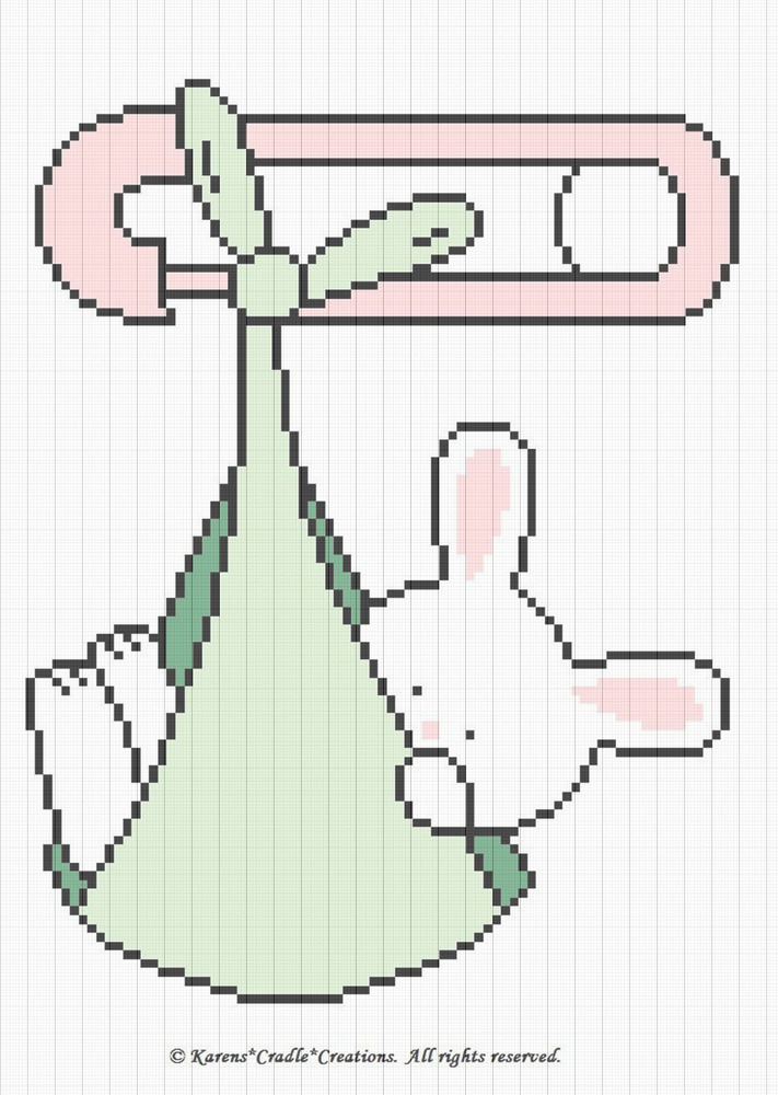 Crochet Patterns Bunny Rabbit Special Delivery Diaper Pin Baby