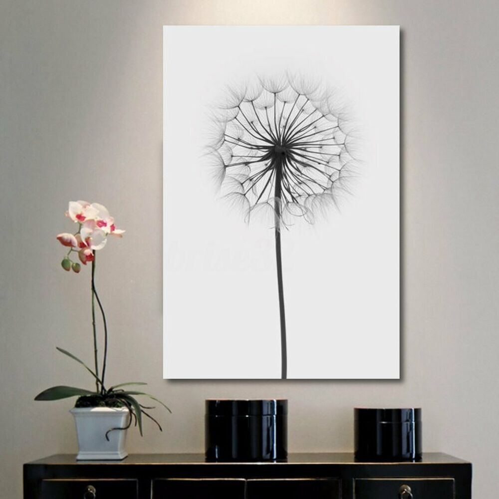 Minimalism Dandelion Canvas Print Painting Wall Art