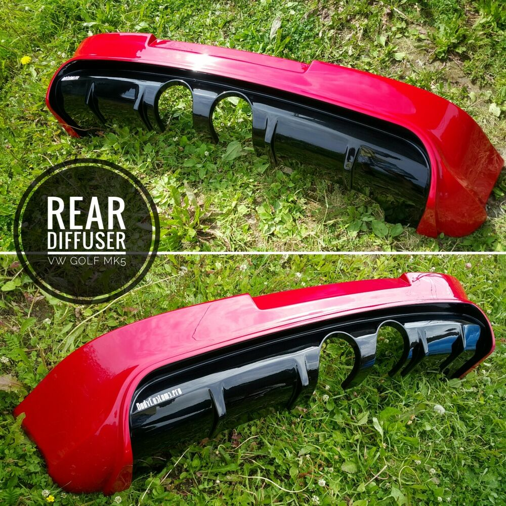 rear diffuser vw golf 5 mk5 r32 gti ebay. Black Bedroom Furniture Sets. Home Design Ideas