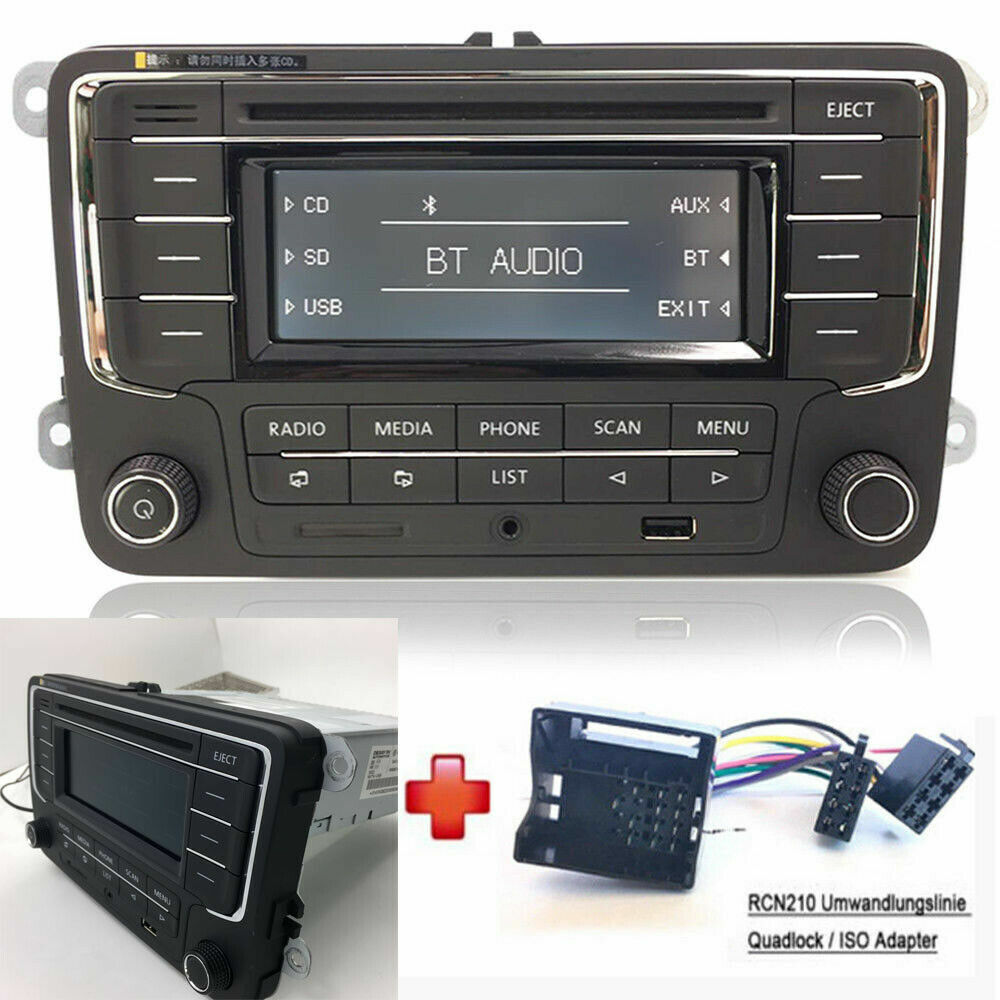 vw autoradio rcn210 bt cd usb aux sd golf touran jetta. Black Bedroom Furniture Sets. Home Design Ideas