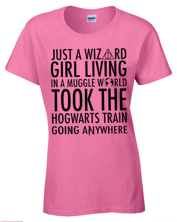 Just a Wizard Girl funny t shirt womens ladies potter ...