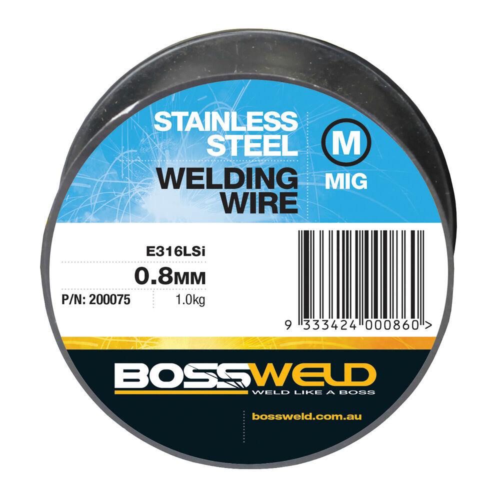 Bossweld STAINLESS STEEL 316LSI MIG WELDING WIRE 1.0kg*AUS Brand ...