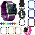 Replacement Sport Silicone Watch Band Wrist Strap for Fitbit Blaze+Frame
