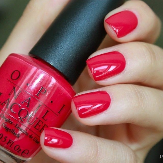 Best Bright Red Nail Polish: OPI Classics **DUTCH TULIPS* Bright Cherry Red Cream Nail