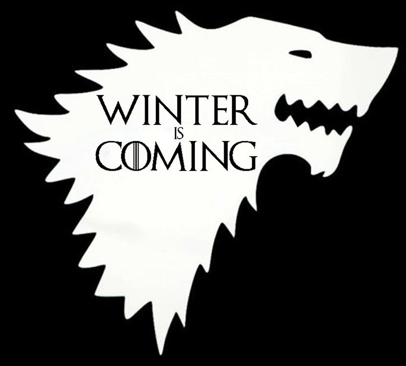 Game Of Thrones White STARK Winter Is Coming Wolf Decal