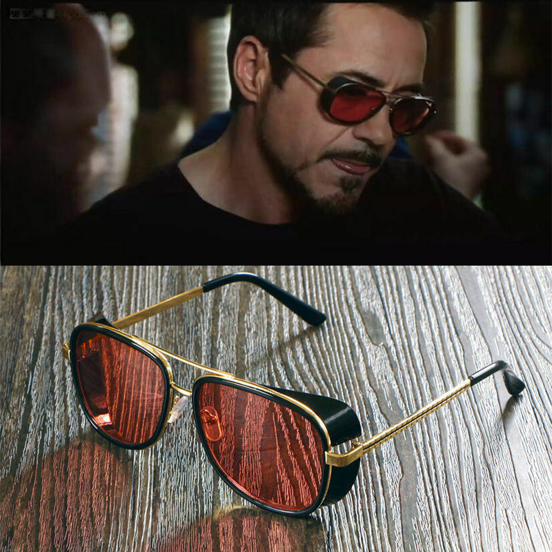44fd94abe2 Details about Iron Man Sunglasses color lens Robert Downey TONY STARK  Personalized glasses