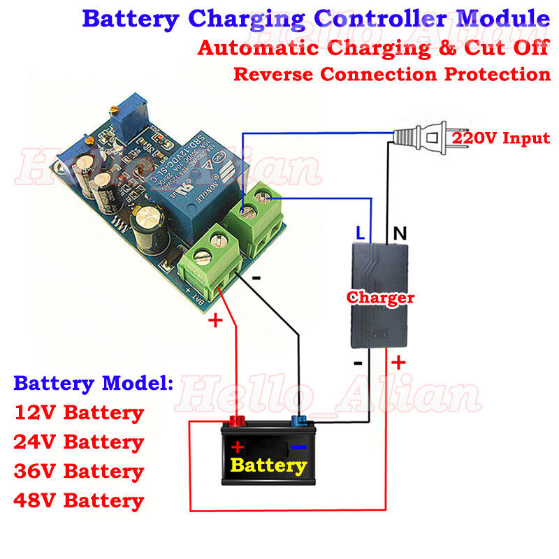 12V 24V    36V    48V Automatic    Battery    Charger Charging Controller Protection Board   eBay
