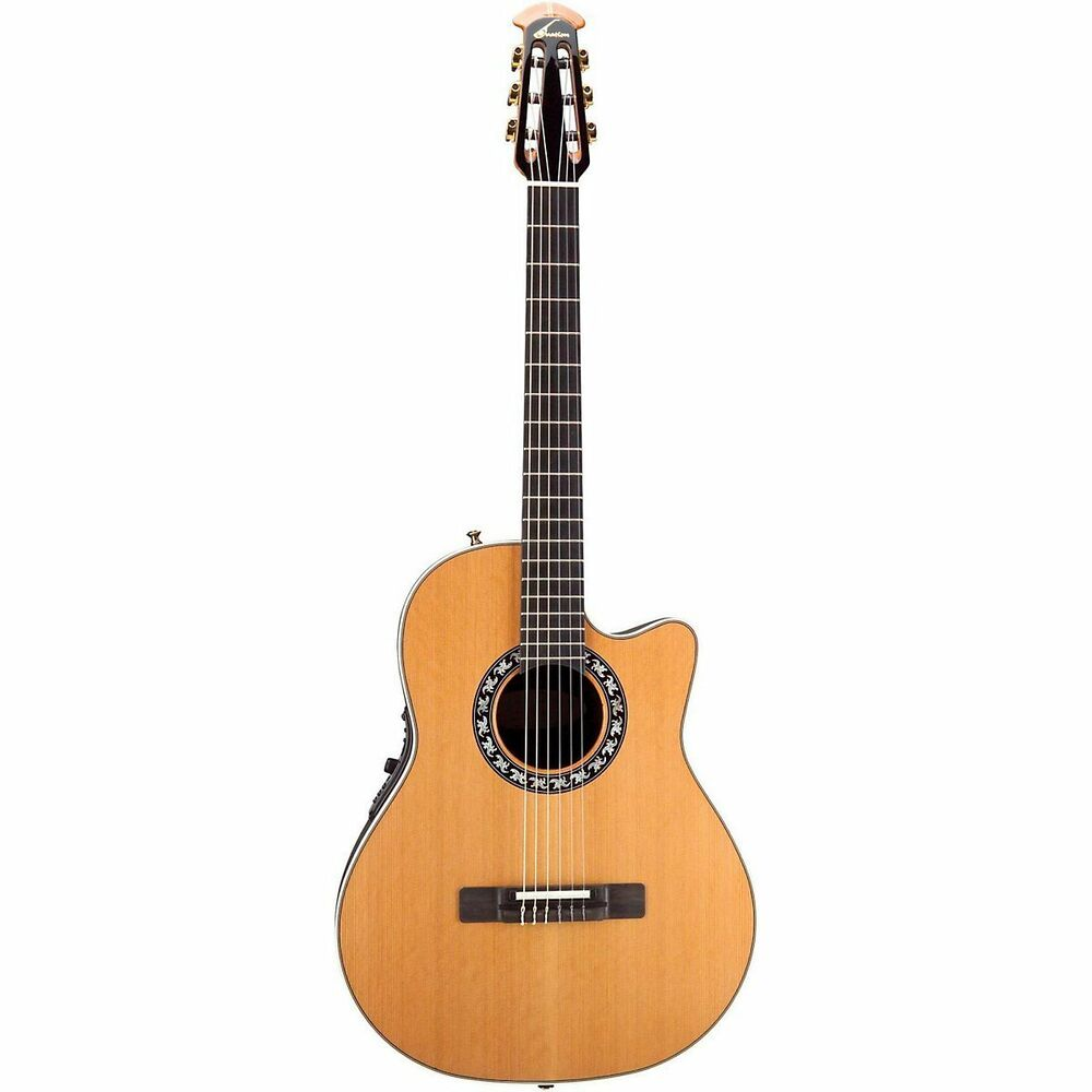 ovation elite ax 1773ax 4 acoustic electric nylon string classic guitar natural ebay. Black Bedroom Furniture Sets. Home Design Ideas