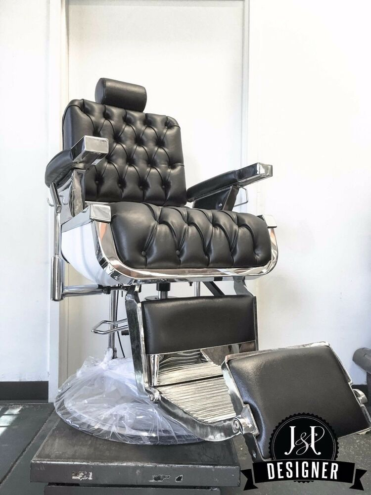 New Custom Button Tufted Barber Chair - Koken, Belmont, Koch, Paidar Style  Chair - Belmont Barber Chair EBay