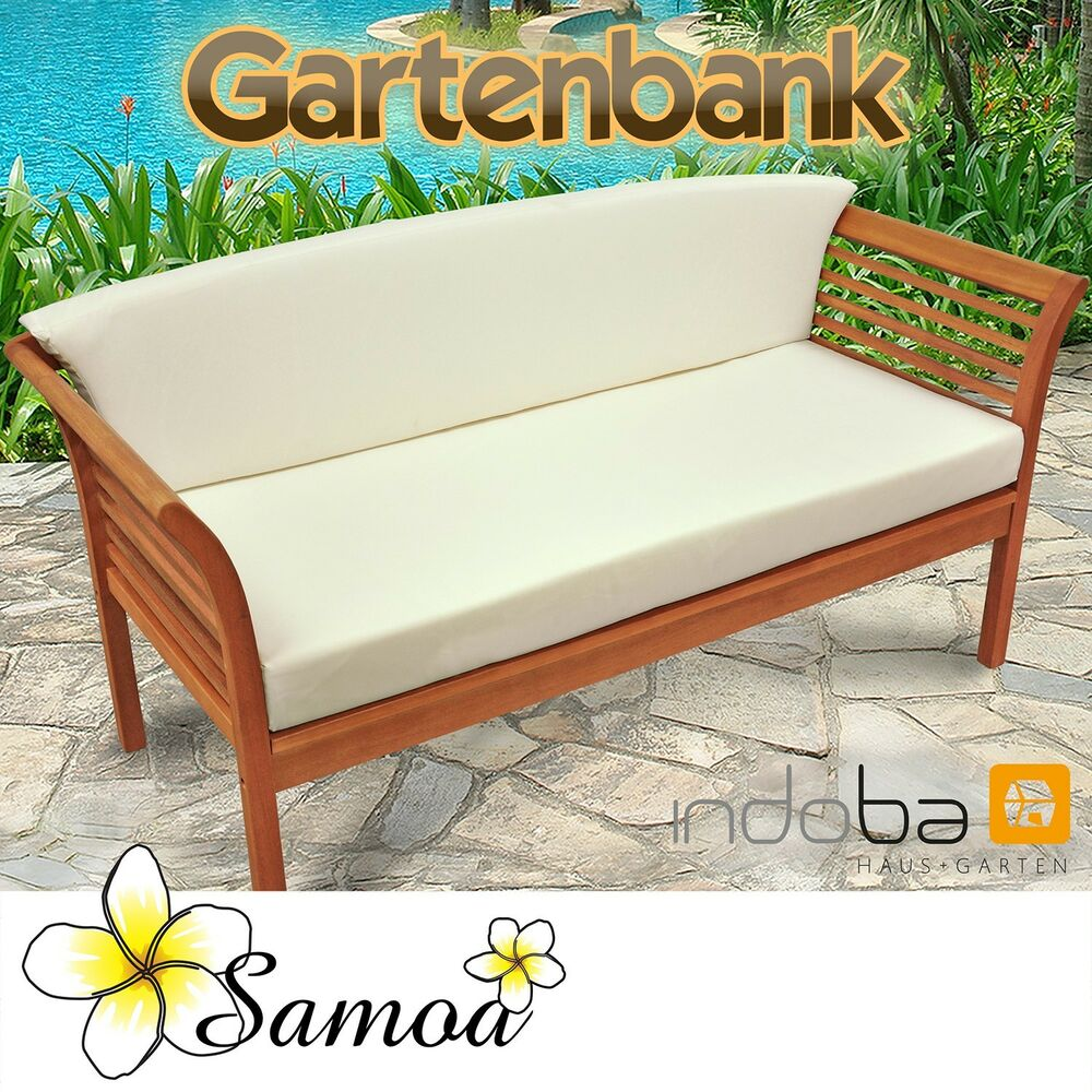 gartenbank loungebank aus holz sofa mit auflage serie samoa von indoba ebay. Black Bedroom Furniture Sets. Home Design Ideas
