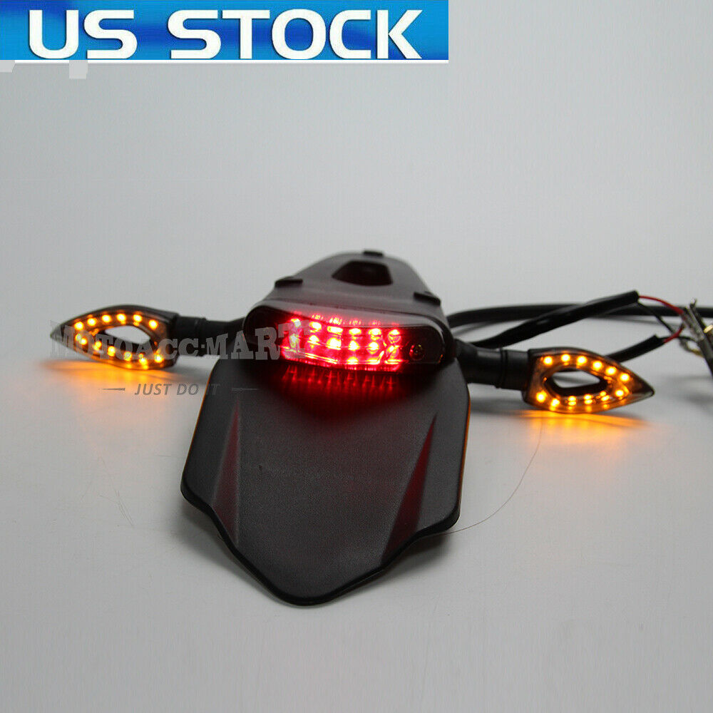 92ab80f09f70f7 Details about Motorcycle light LED Turn Signal Brake Tail Light Off Road  KIT For KTM Kawasaki